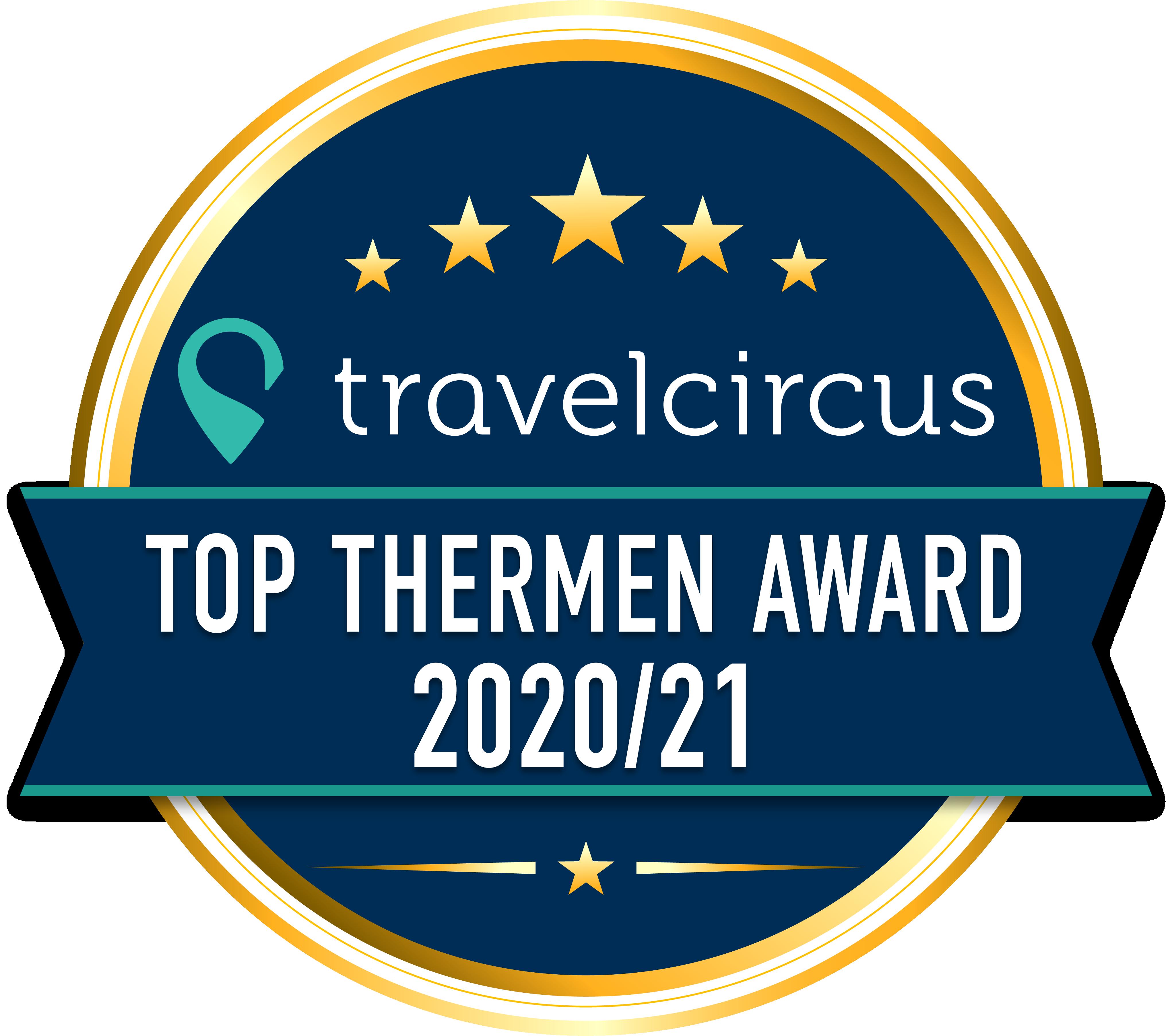 Travelcircus TOP Thermen Award 2020/21